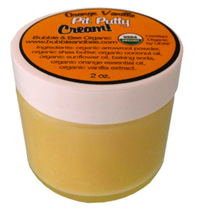 Bubble and Bee orange vanilla pit putty cream