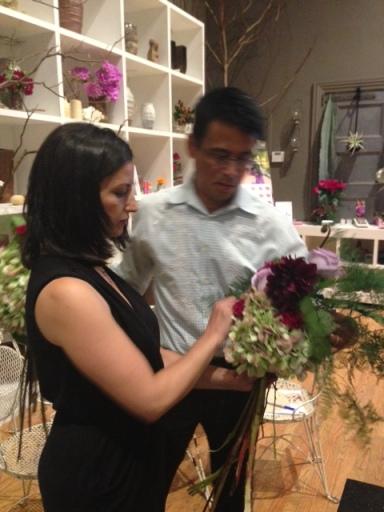Emily floral arranging