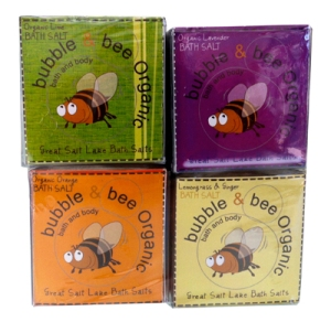 Bubble and Bee salt cube four pack